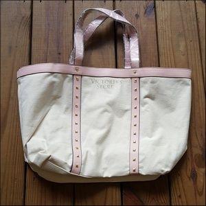 NEW Victoria's Secret large studded tote bag